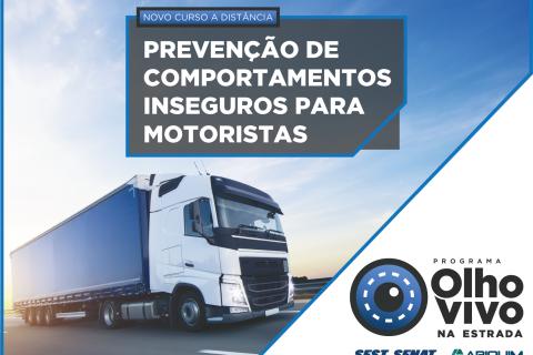Novo curso - Prevenção de comportamentos inseguros para motoristas